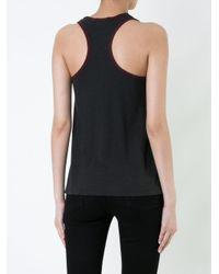 James Perse Gray Sleeveless Boxy T-shirt