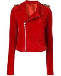 Rick Owens ライダースジャケット Red