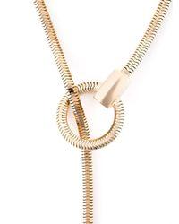 Lara Bohinc Metallic 'schumacher' Loop Necklace