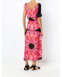 Asymmetric printed dress Amir Slama de color Pink