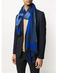 メンズ Etro カシミア パターン スカーフ Blue