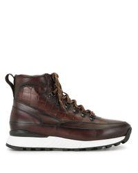 メンズ Magnanni Shoes ハイカットスニーカー Brown