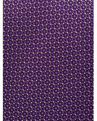 Micro dots tie di Canali in Purple da Uomo