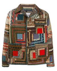 メンズ Bode Log Cabin キルティング ジャケット Multicolor