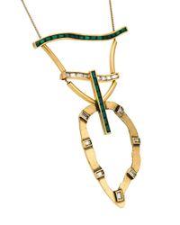 Camila Klein - Metallic Embellished Necklace - Lyst