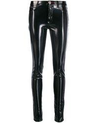 Philipp Plein Black Bikerhose mit schmalem Bein