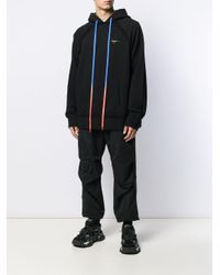 Felpa con cappuccio Arrows di Off-White c/o Virgil Abloh in Black da Uomo