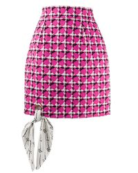 Versace ツイード ミニスカート Pink