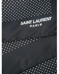 Saint Laurent Black Polka Dot Scarf