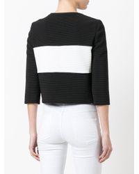 Boutique Moschino カラーブロックジャケット Black