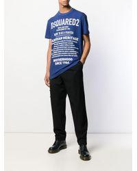 メンズ DSquared² プリント Tシャツ Blue