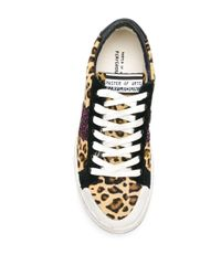 MOA Leopard Print Sneakers Multicolor