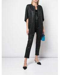 Veste à design texturé Natori en coloris Black