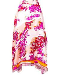 Emilio Pucci フローラル スカート Pink