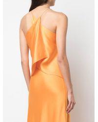 Blusa con tiras cruzadas en la espalda Rosetta Getty de color Orange