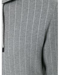 Michael Kors | Gray Pinstripe Zipped Hoodie for Men | Lyst