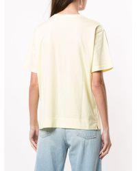Tu Es Mon Tresor スパンコール Tシャツ Yellow