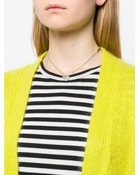 Marc Jacobs - Metallic Coin Bow Pendant Necklace - Lyst