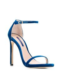 Sandalias con tacón alto Stuart Weitzman de color Blue