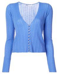 Altuzarra Blue V-neck Cardigan