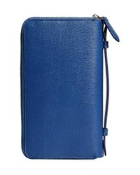 Burberry - Blue London Travel Wallet - Lyst