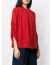Blouse à manches froncées Ferragamo en coloris Red