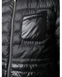Z Zegna Black Hooded Padded Jacket for men