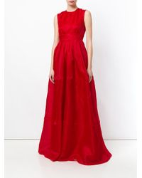 Rochas Ropm511001rm281000a 622 Bright Red Silk