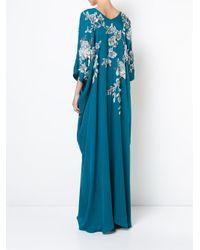 Vestido caftán Cocoon Josie Natori de color Blue