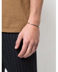Henson - Metallic Thin Antique-effect Cuff for Men - Lyst