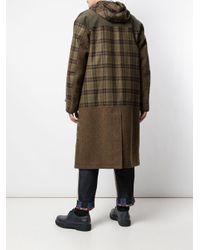 メンズ Junya Watanabe チェック フーデッドコート Multicolor
