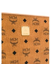MCM ロゴ クラッチバッグ Brown