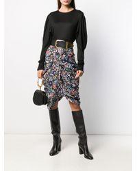 Falda drapeada en la parte frontal Isabel Marant de color Black
