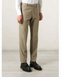 Incotex Brown Tailored Trousers for men