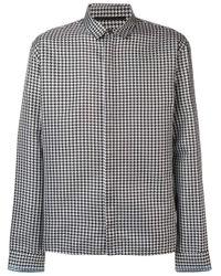 Chemise à motif pied-de-poule Haider Ackermann pour homme en coloris Black