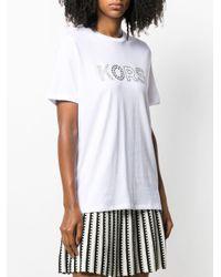 Camiseta con logo y apliques MICHAEL Michael Kors de color White