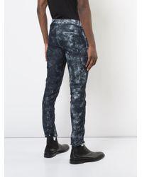 Tom Rebl - Blue Line Detail Skinny Jeans for Men - Lyst
