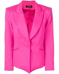 Blazer con dobladillo en pico Styland de color Pink
