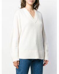 Jersey con cuello en V Vince de color White