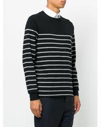 Polo Ralph Lauren | Black Striped Logo Sweater for Men | Lyst