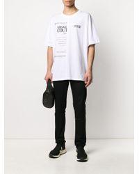 メンズ Versace Jeans スローガン Tシャツ White