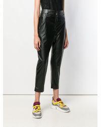 Pantalon fuselé crop Pinko en coloris Black