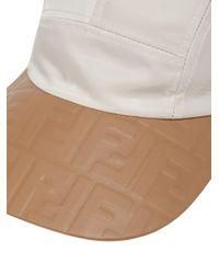 Casquette à visière à logos embossés Fendi pour homme en coloris White