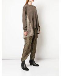 Jersey asimétrico oversize Uma Wang de color Brown