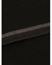Sciarpa con frange di Ermenegildo Zegna in Black da Uomo