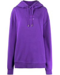 Acne Purple Oversized Hoodie