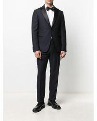 メンズ Z Zegna サテンパネル スーツ Blue