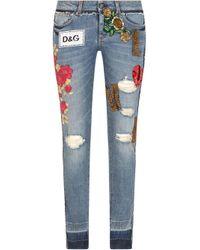 Jeans skinny di Dolce & Gabbana in Blue