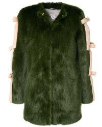 Shrimps | Green Elsie Faux Fur Coat | Lyst