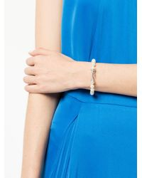 Ferragamo - White Gancini Pearl Bracelet - Lyst